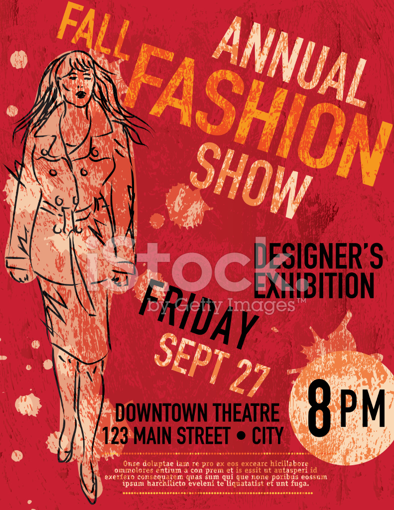 Fall Fashion Show Poster Design Template Stock Vector FreeImagescom