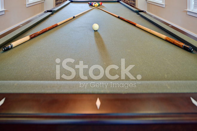 Long Pool Table Stock Photos FreeImagescom - How long is a pool table
