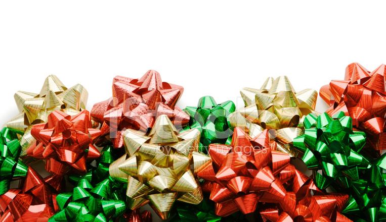 White Bows For Christmas Tree