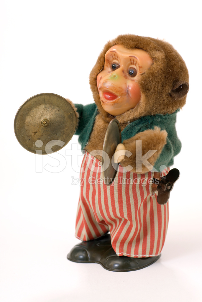 Toy Monkey With Cymbals Stock Photos Freeimages