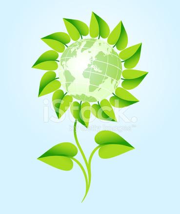 Green World Flower Stock Vector Freeimages Com