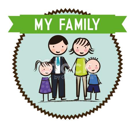 Disegno Famiglia Stock Vector Freeimagescom
