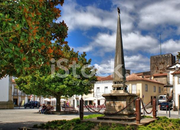 Square in vila nova de cerveira stock photos - Vilanova de cerveira ...