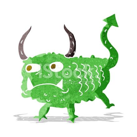 Cartoon Piccolo Demone Stock Vector Freeimagescom