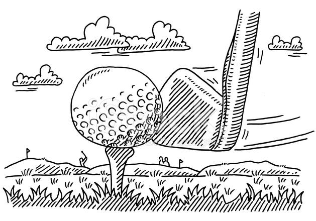 golf club bal sport tekening stock vector freeimages
