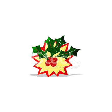 Christmas Holly Cartoon.Cartoon Christmas Holly Stock Vector Freeimages Com
