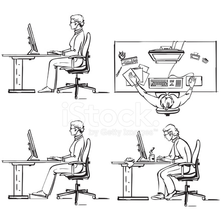 Ergonomic Of  puter Workplace 1 1436585 on industrial work desk