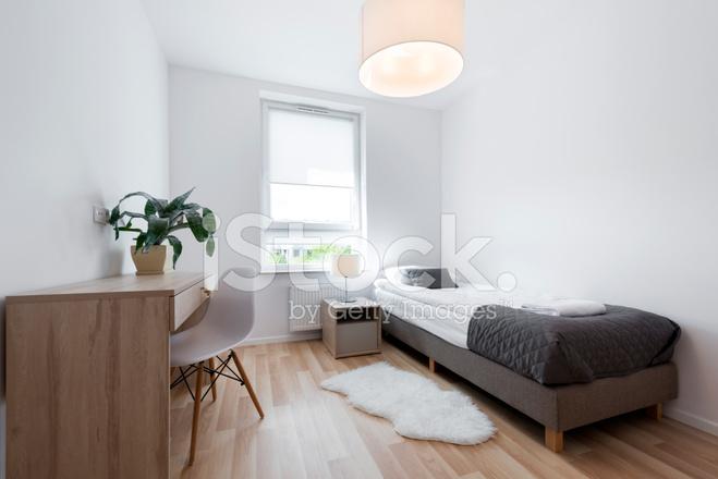 Kleine moderne slapende kamer interieur design stockfoto s