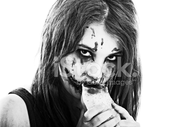of Zombie Girl Eating Human stock photos - FreeImages.com