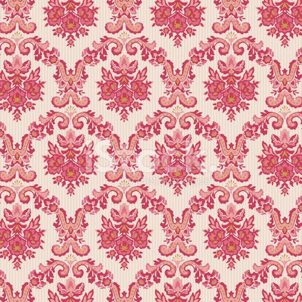 Vintage Elegant Damask Wallpaper Vector Background stock ...