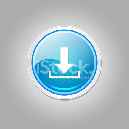 Download Circular Vector Blue Web Icon Button Stock Vector
