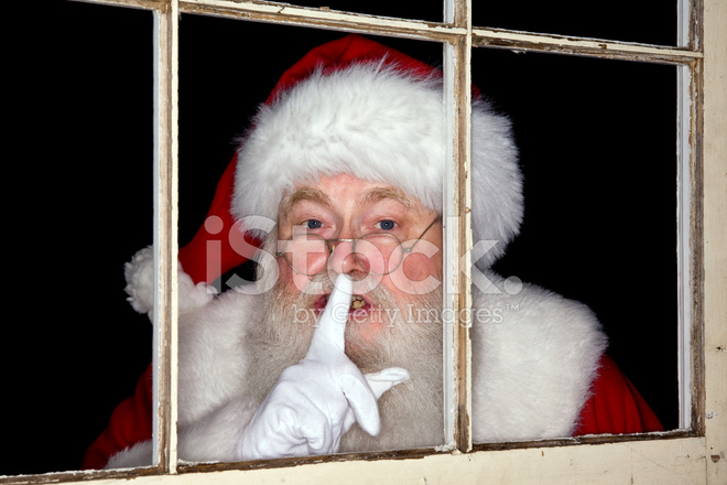 Pictures of Real Santa Claus Looks Through A Window stock ...