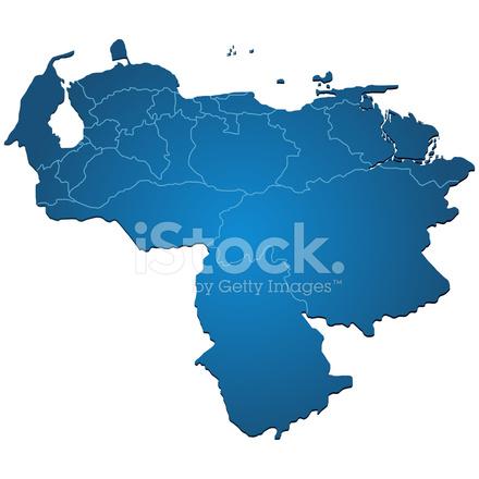 Venezuela Karte Blau Stock Vector - FreeImages.com