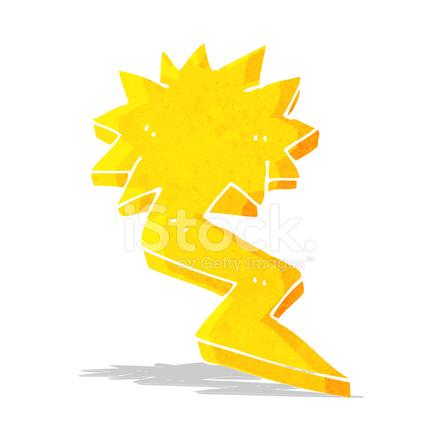 Cartoon Lightning Bolt Symbol Stock Vector Freeimages