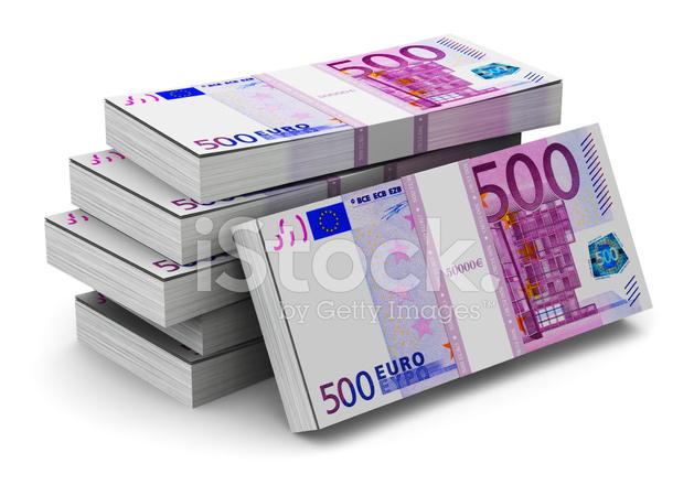 Stacks of 500 euro banknotes stock photos for Cuisine 500 euros