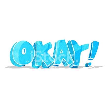 Cartoon Okay Sign Stock Vector Freeimages Com