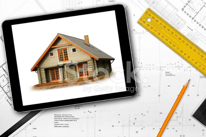 Attractive Premium Stock Photo Of Tablet, Werkzeuge UND Architekt Entwurf Auf Dem Tisch