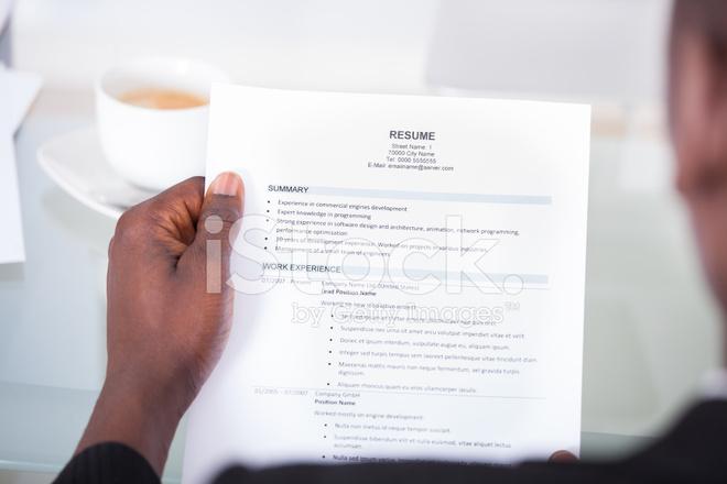stock person resume