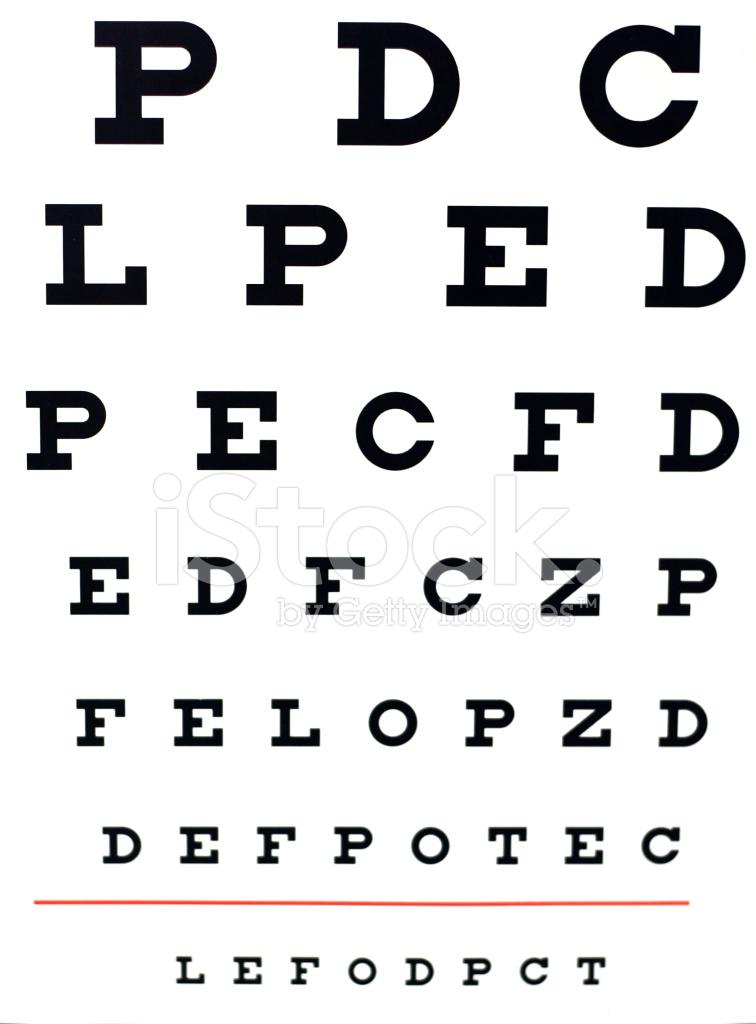 Eye Test Chart Stock Photos Freeimages