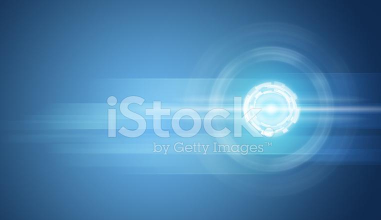 Cerchi Trasparente Su Sfondo Blu Fotografie Stock Freeimagescom