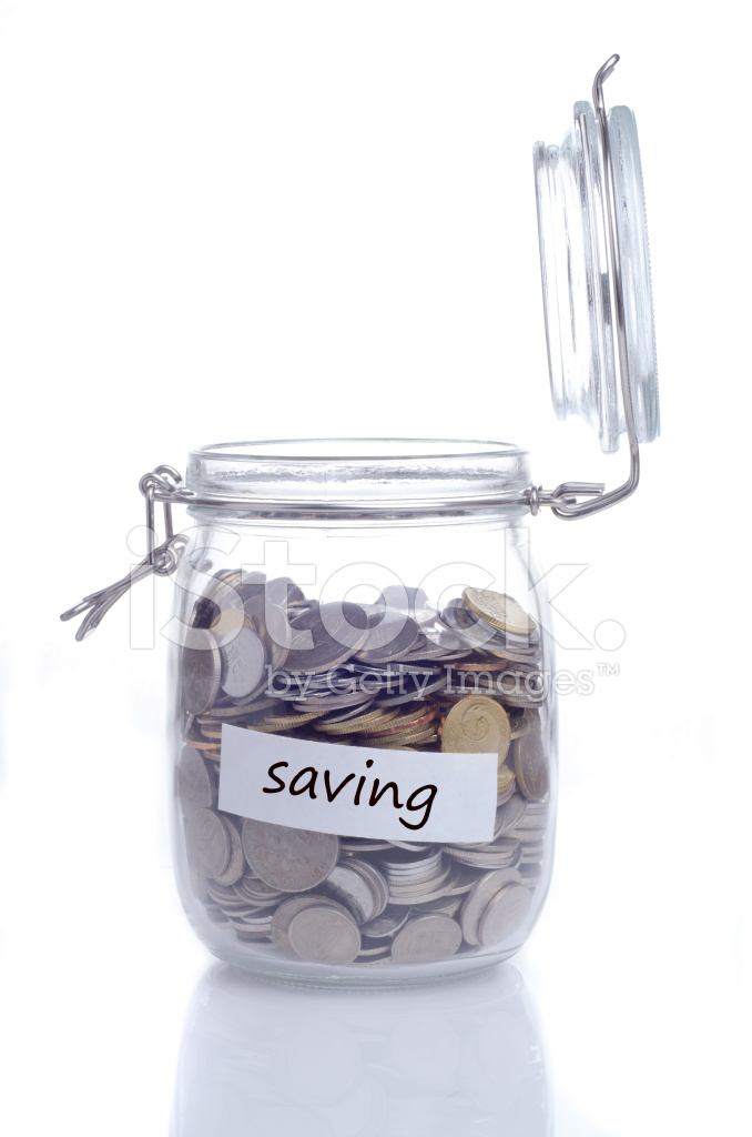 open glass jar with coin stock photos freeimages com