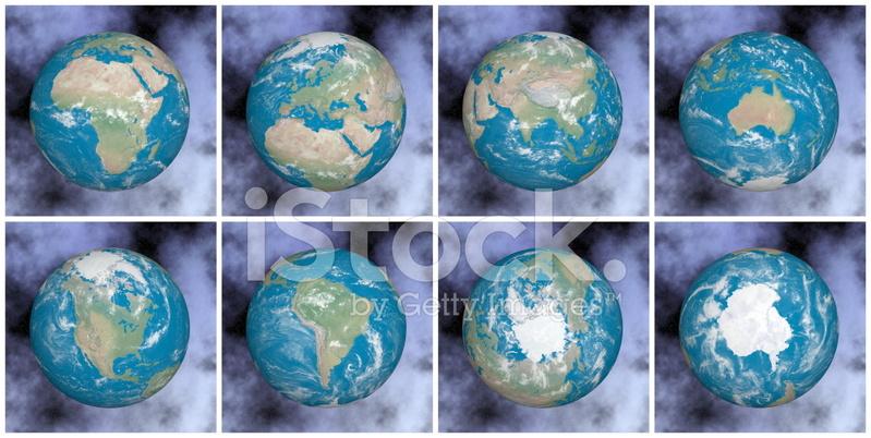Los Continentes De La Tierra 3d Render Fotografias De Stock
