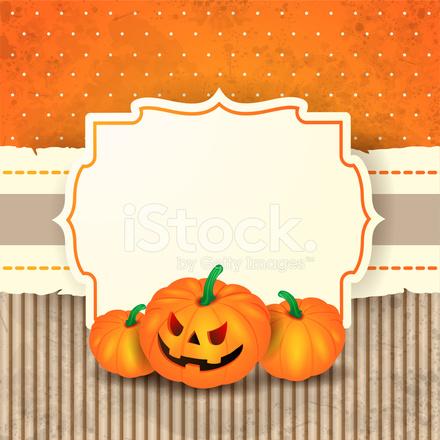 premium stock photo of sfondo di halloween con etichetta e zucche