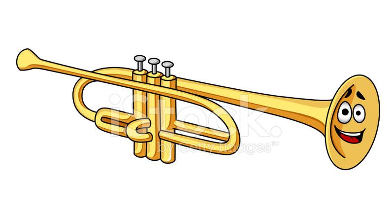 Trompeta DE Latn DE Dibujos Animados fotografas de stock