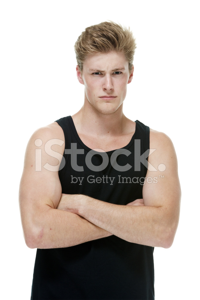 05d582b7a1018 Serious Man Wearing Tank Top Stock Photos - FreeImages.com