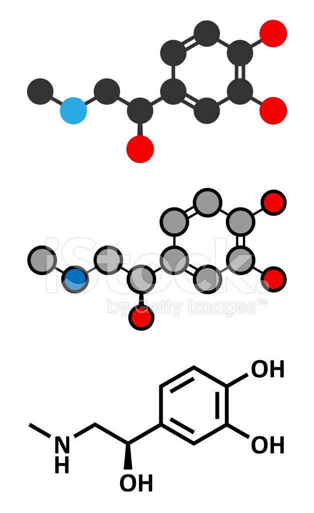 Molécula De Neurotransmisor Adrenalina Adrenalina