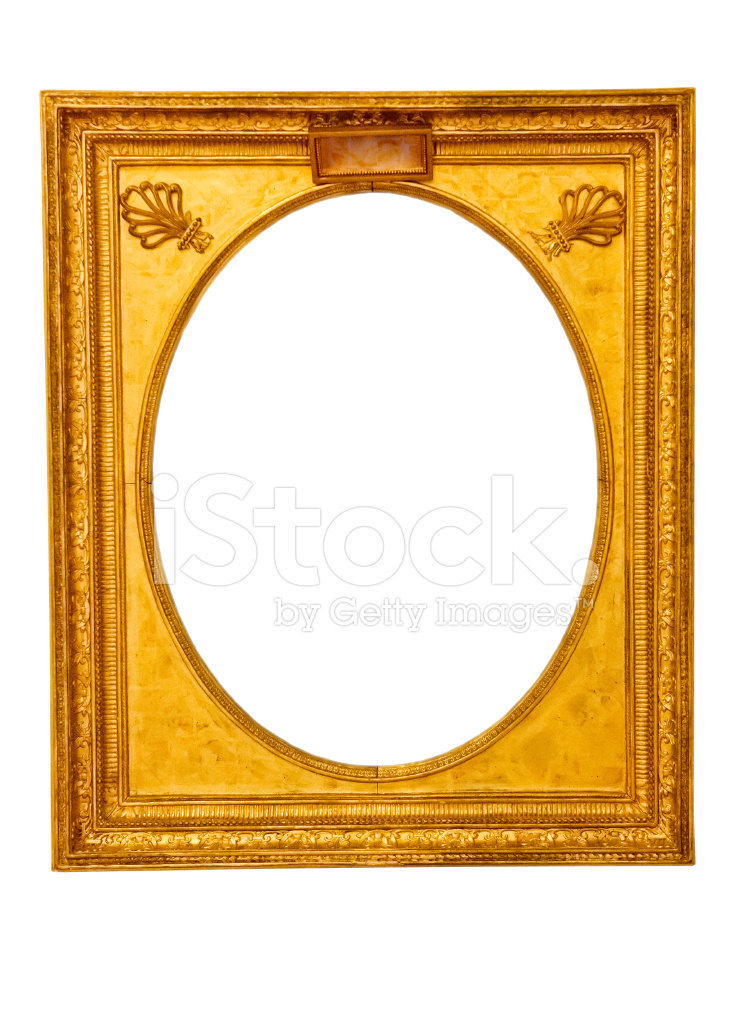 be1ee504ba9 Gold Vintage Frame Isolated on White Background Stock Photos ...
