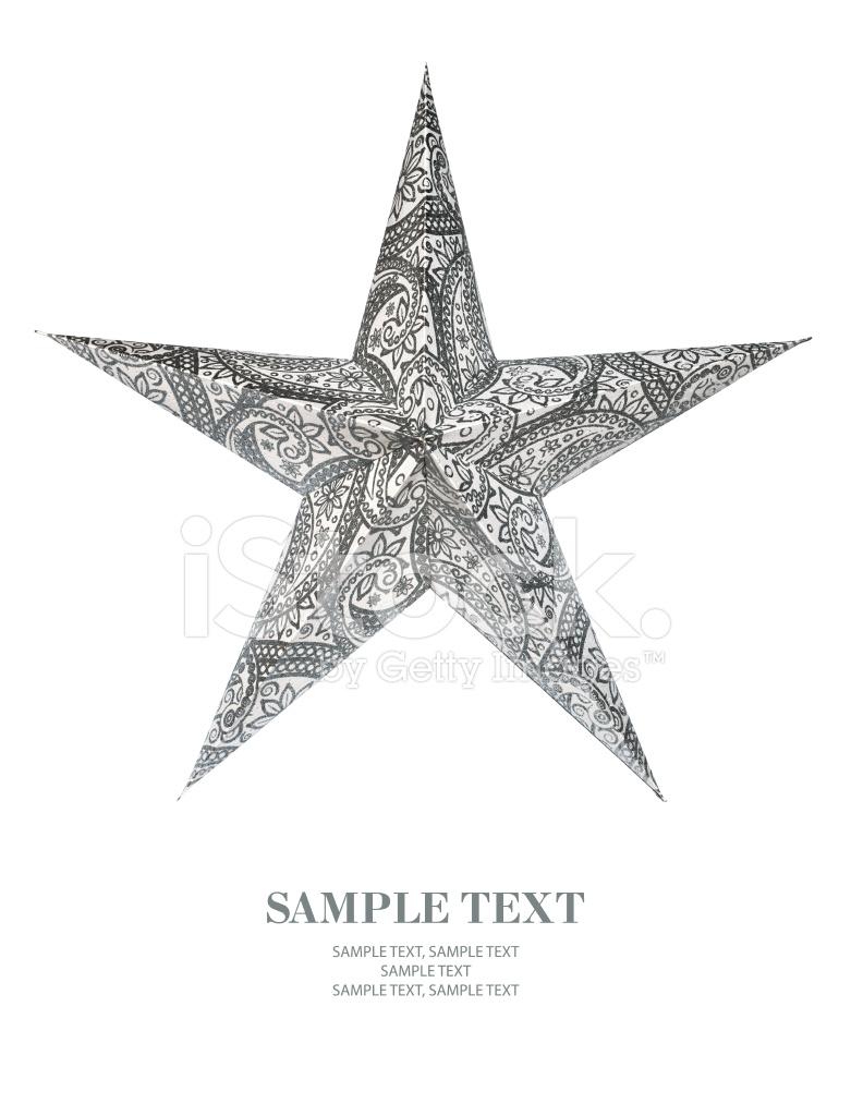 Christmas star ornament on white background stock photos