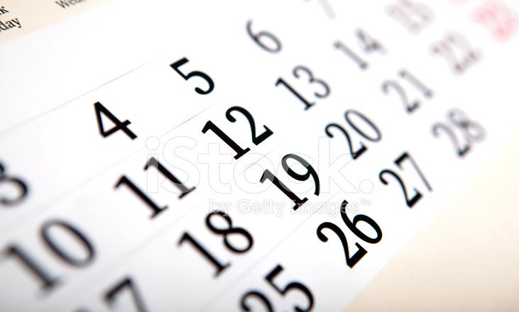 Calendario Con Numero Giorni.Giorni Di Calendario Con Numeri Da Vicino Fotografie Stock