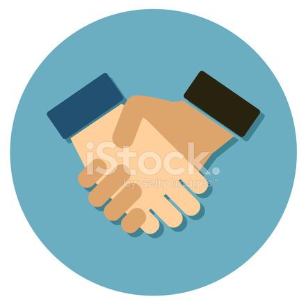 Handshake Flat Icon Stock Vector Teamwork Hands