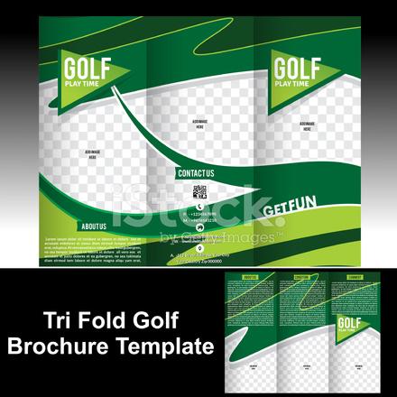 Tri fold golf brochure template stock photos for Golf brochure template