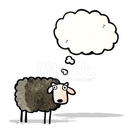 Cartone animato pecore con bordo bianco u foto stock zydesign