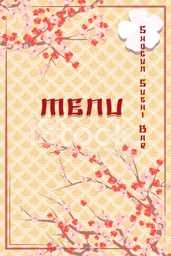 Cover Der Asiatischen Themen Sushi Bar Menü Stock Vector ...
