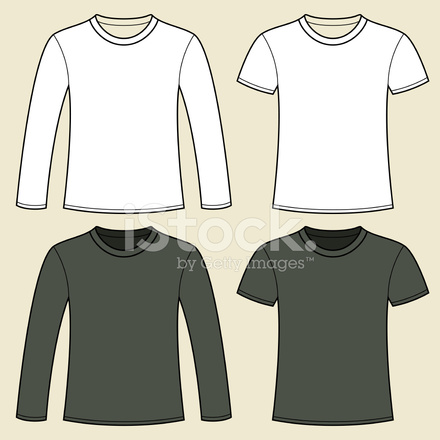 Long Sleeved T Shirt And T Shirt Template Stock Vector Freeimages