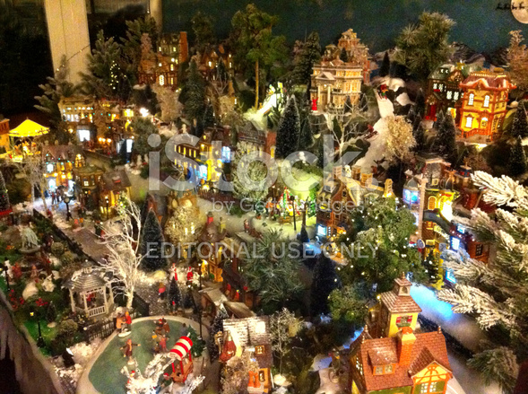 Christmas village model houses