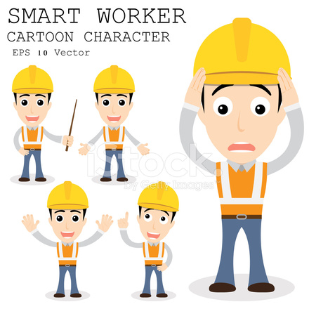 smart worker cartoon character eps 10 vector illustration Table of Contents Design table of contents clipart images