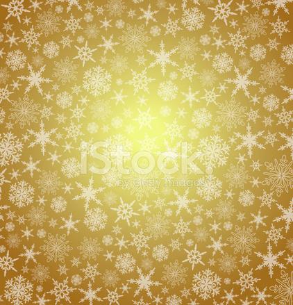 Sfondi Natalizi Oro.Oro Natale Fiocchi Di Neve Sfondo Vettoriale Astratta Stock Vector