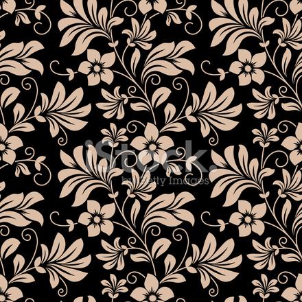 Incons til patr n de papel tapiz floral vintage - Papel de pared blanco y negro ...