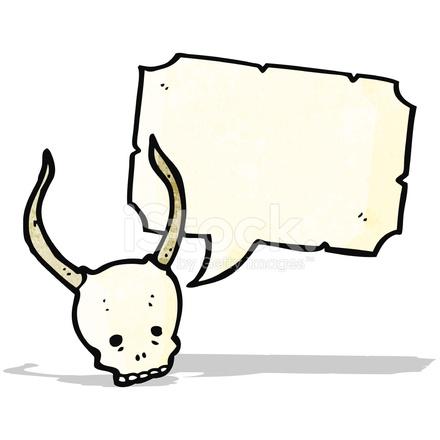 Cráneo DE Halloween Spooky DE Dibujos Animados Stock Vector ...