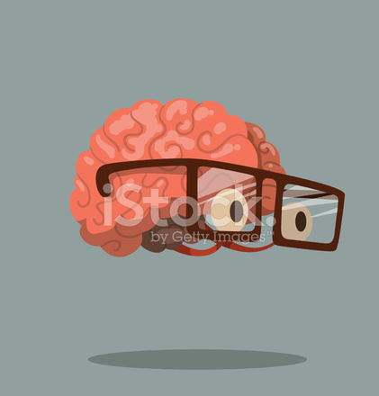 Brain And Glasses Vector
