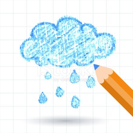 手描きのスケッチ雲の鉛筆 背景テンプレート ベクトル stock vector