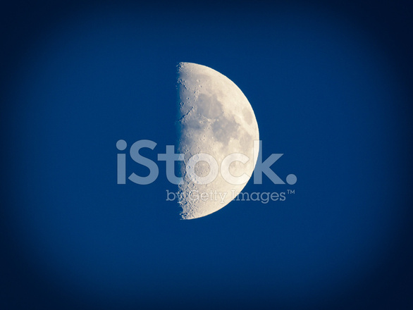 Look Retro Primer Cuarto DE Luna Fotografías de stock - FreeImages.com