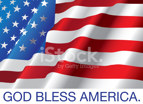 God Bless America Met Usa Vlag Stock Vector Freeimagescom