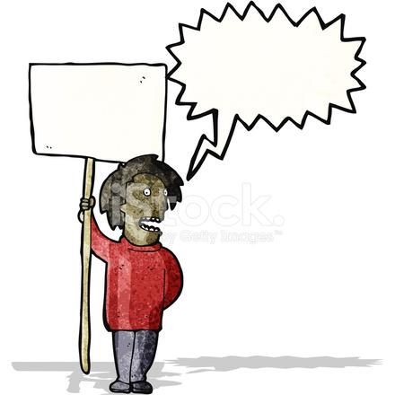 Dibujos Animados De Protesta Política Stock Vector Freeimagescom