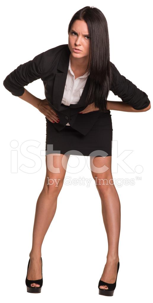 woman leaning forward