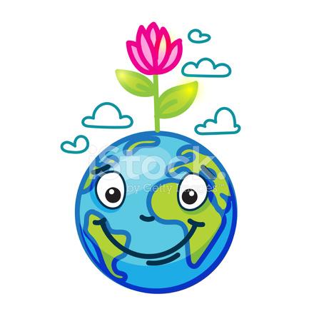 Smiling Globe (earth) IN Cartoon Doodle Stock Vector ...